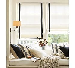 Fabric Roman Shades & Blackout Roman Shades | Pottery Barn - Inspiration