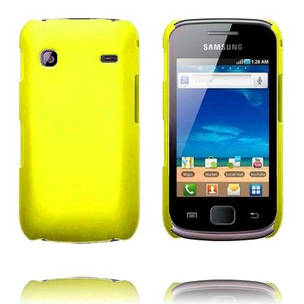 Hard Shell (Keltainen) Samsung Galaxy Gio Suojakuori