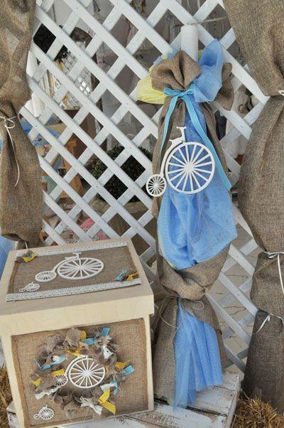 Set βάπτισης vintage ποδήλατο(s502) - ByAlexia