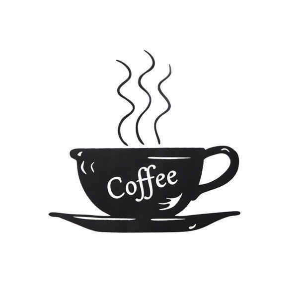 Cafe Pegatinas de pared barra de café extraíble Taza De Café Decoración de Vinilo Arte Decorativo