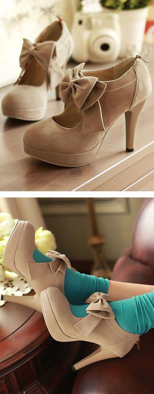 "always love the idea of cutesy socks with heels "")"