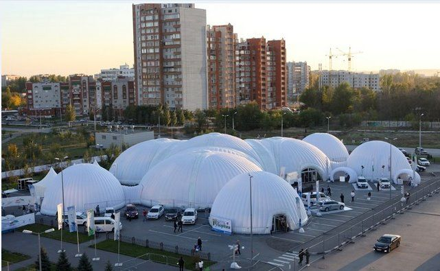 Do you need cover for your whole #show?? The Snow Show Russia took this solution.  #Inflatable #Temporary #Structure #Events http://www.brandinteractivation.com/