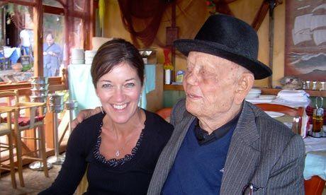 Victoria Hislop met Manoli Foundoulakis in Spinalonga, Crete.