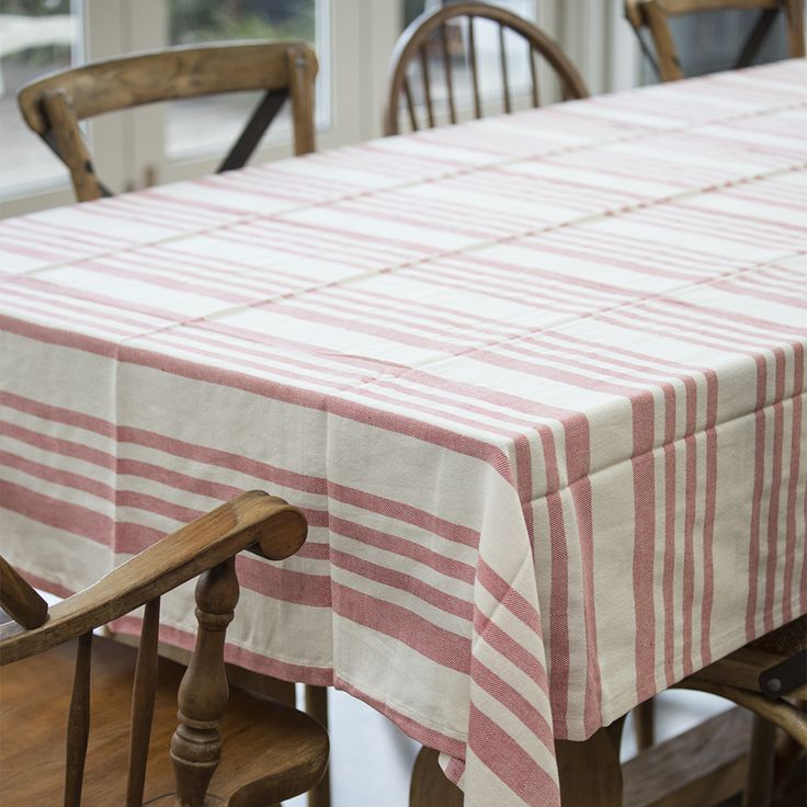 #raineandhumble #red #striped #tablecloth