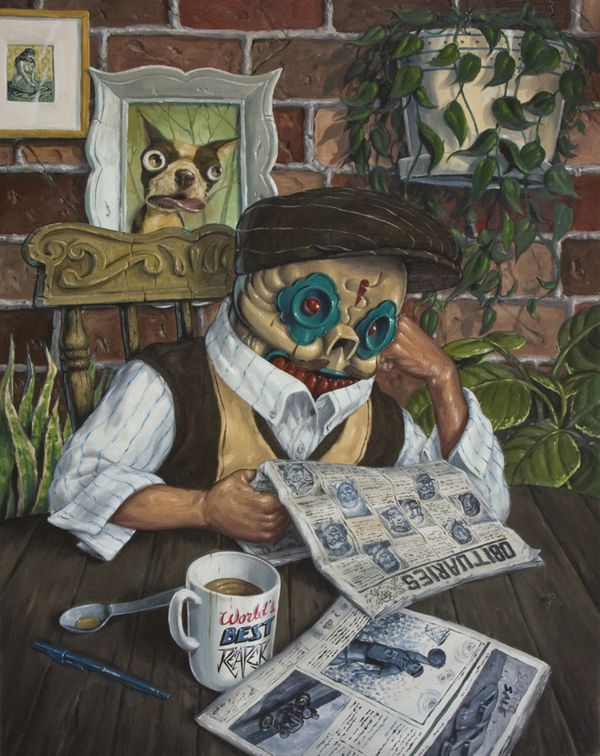 Creepy Oil Paintings by Jonathan Bergeron | Cuded
