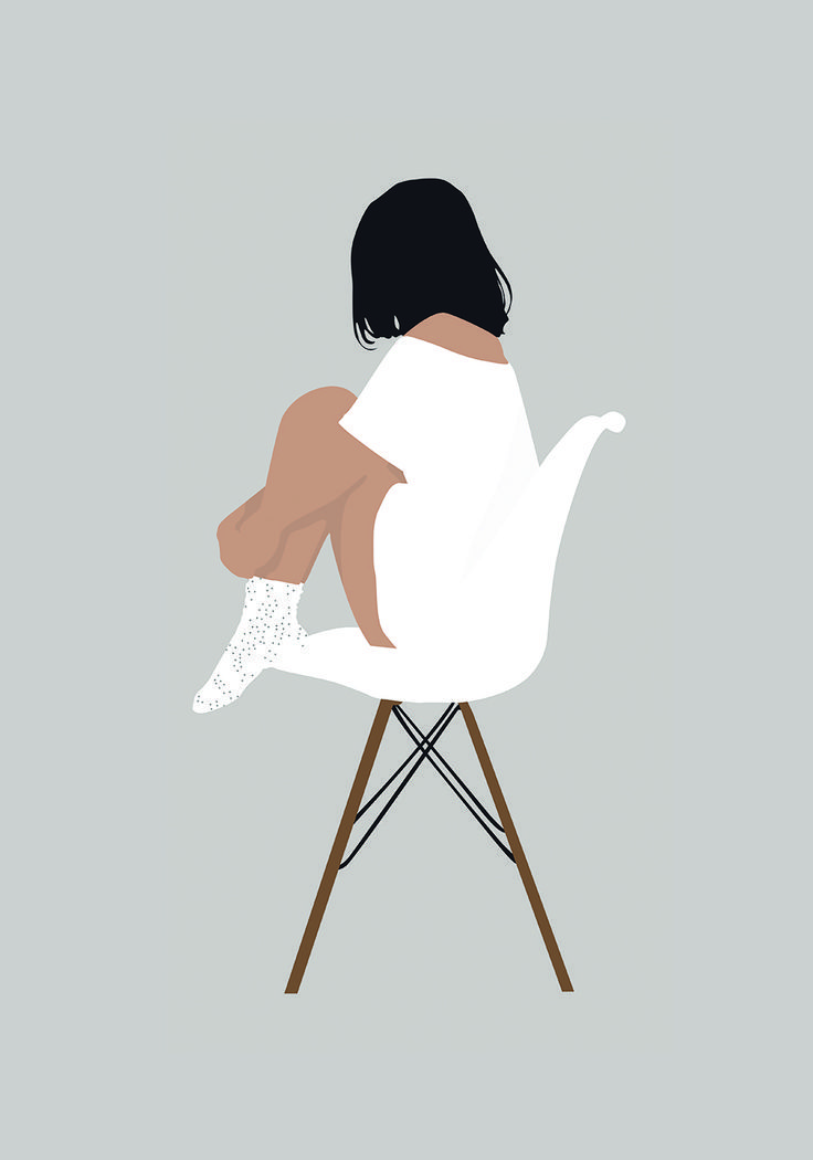 Vector woman sitting – #wife #sitting #vector #vector