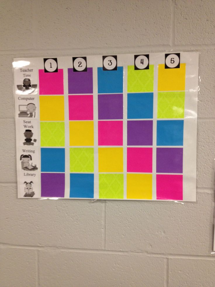 Center rotation chart - this would require color-coding the centers as well, maybe by hanging lanterns?