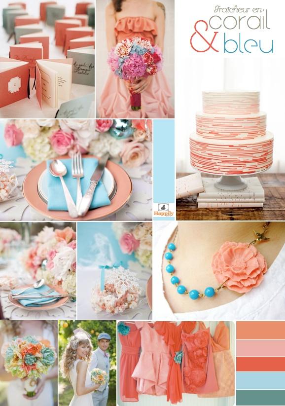 95 best images about blue and orange wedding colors on for Decoration en bleu turquoise