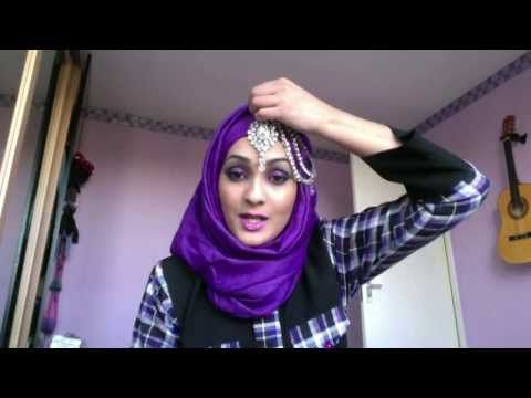 ▶ REQUESTED - Wedding Hijab Style With Headpiece - YouTube