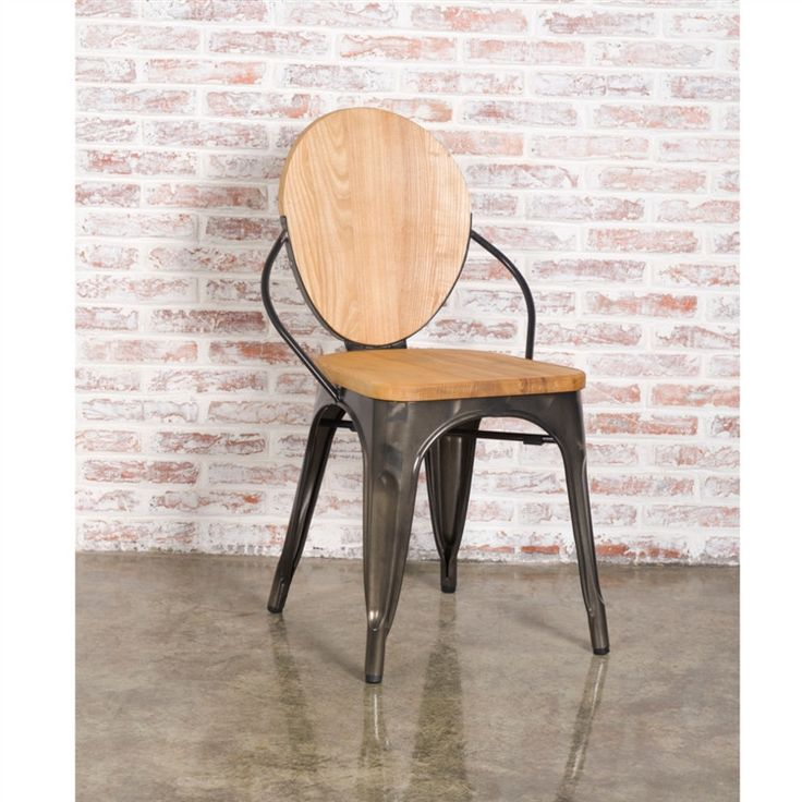 Finemod Imports Modern Metal Dining Chair