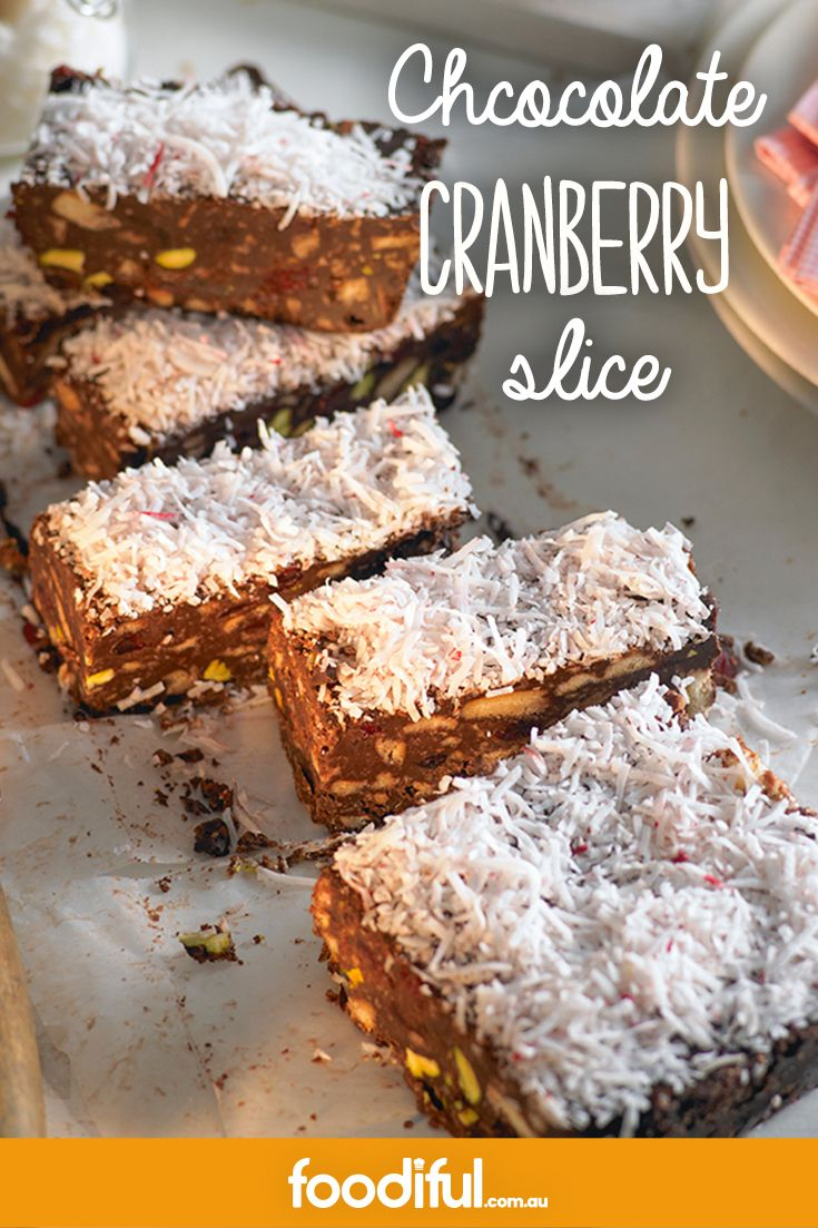 This melt-in-your-mouth dark chocolate, coconut and cranberry, biscuit slice is an easy and fast treat to make! Taking only an hour to make, it's ideal with an arvo cup of coffee. This recipe makes 8 slices.