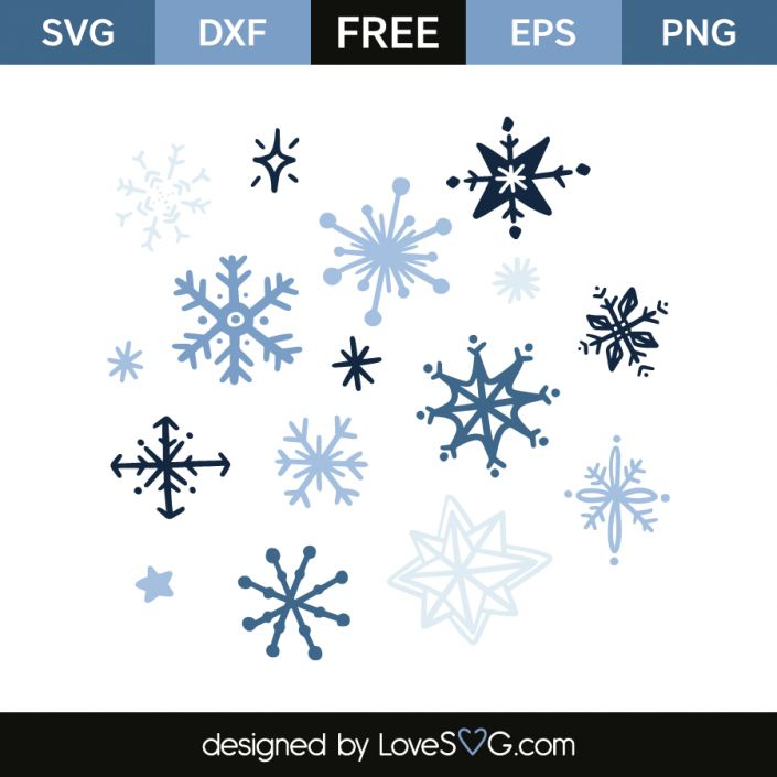 *** FREE SVG CUT FILE for Cricut, Silhouette and more *** Snowflakes