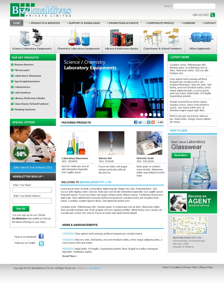 Product Portal and a Cart System done for Biz4Maldives, Male, Maldives by eDesigners