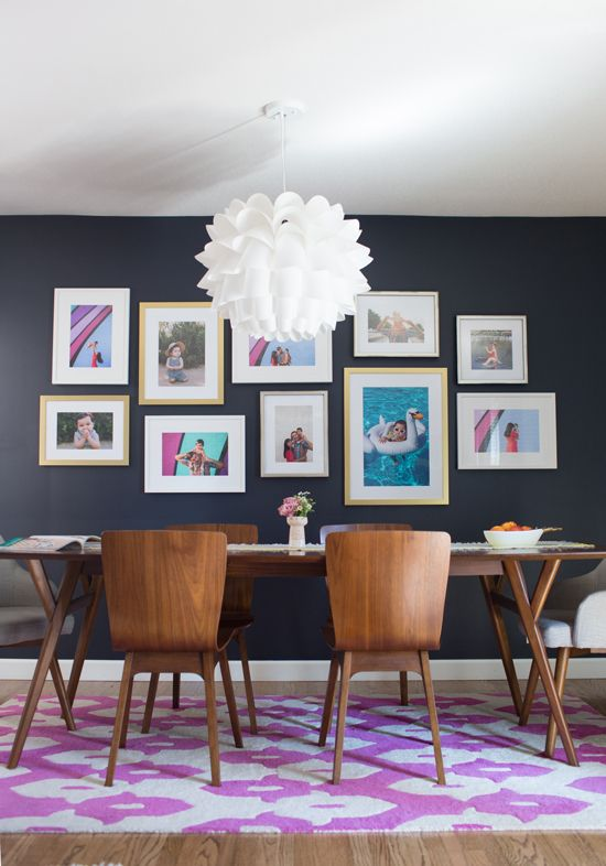 how to add special occasion family photos to your home (tip: if you use changeable gallery frames, you can update in seconds, and store decades of photos in back!)