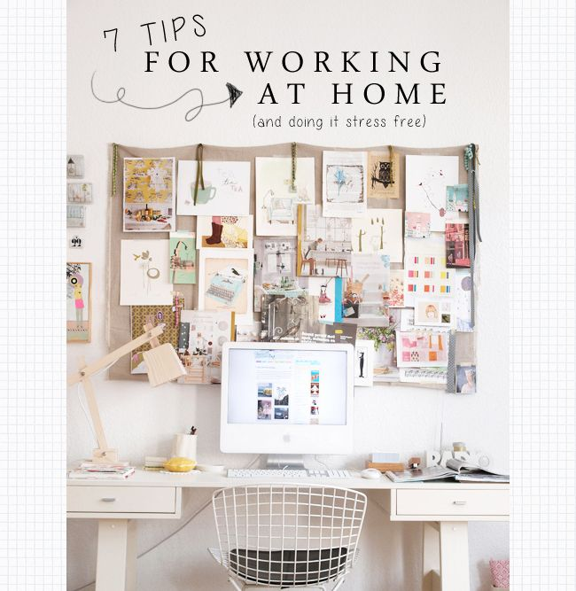 7 Tips For Working at Home... And Doing it Stress Free! | Wonder Forest: Design Your Life.