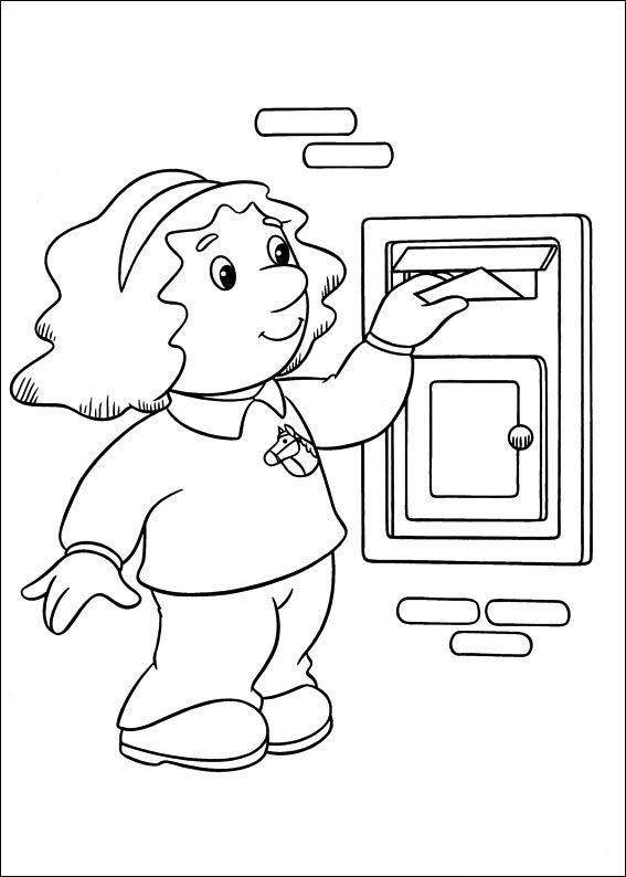 Postmand Per Tegninger til Farvelægning 17