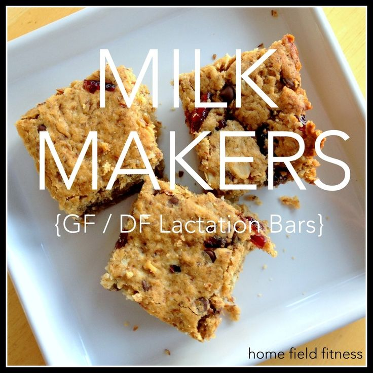 Gluten Free Lactation Bars...Milk Makers! Loaded with goodness: brewers yeast, flax, oats and of course chocolate! Everyone will want to snack on these!! via Home Field Fitness