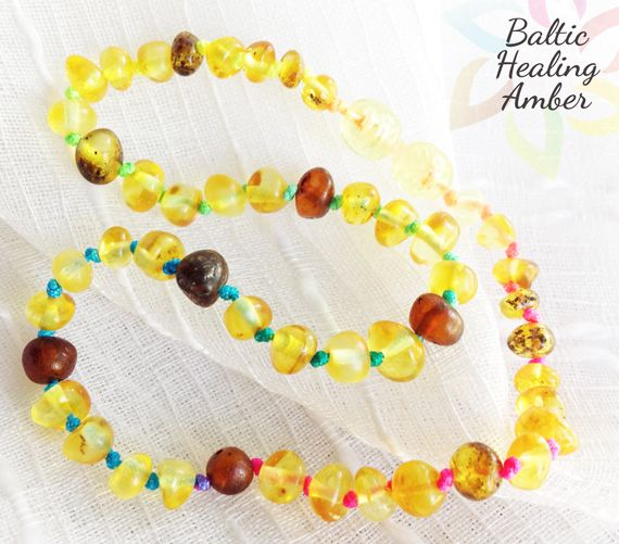 Summer -Baby Baltic Round Shaped Amber necklace $19.70 ...