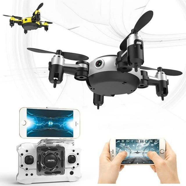 Quadrocopter Dron 2017 WiFi Pocket Drone 4CH 6Axis Gyro Quadcopter With Switchable Controller RTF UAV RC Helicopter Mini Drones