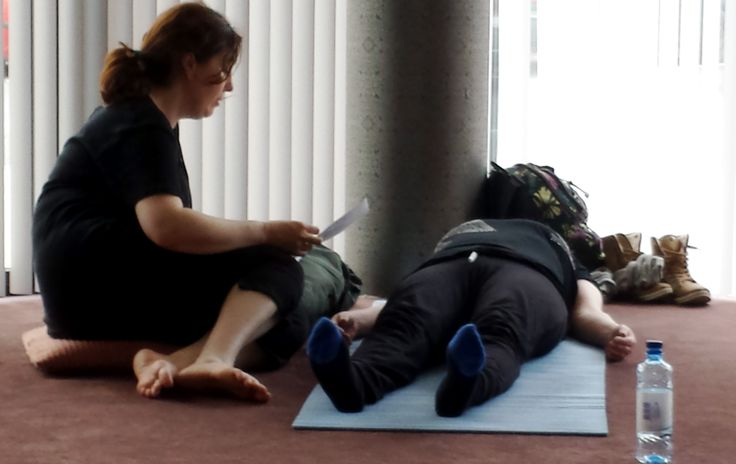 Focused Peace by Maura  Yoga Nidra Teaching Practice on first day of YTTC teacher training Galway