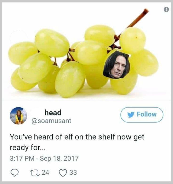 Snape on a grape