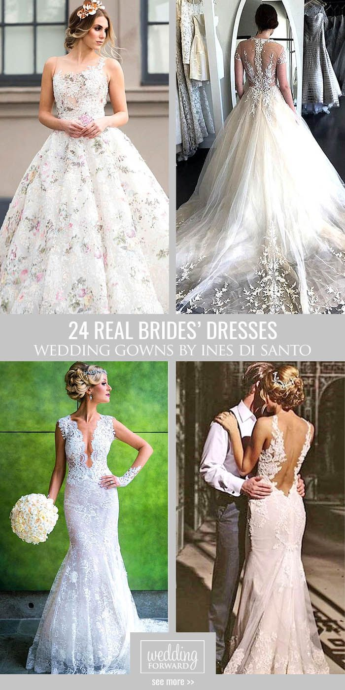 24 Real Brides In Ines Di Santo Wedding Dresses ❤ Ines Di Santo wedding dresses are for the bride who wants look simple and romantic yet totally luxuriously at the same time. See more:http://www.weddingforward.com/ines-di-santo-wedding-dresses/ #wedding #dresses