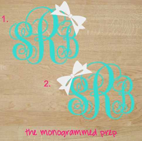 This listing is for one Monogrammed Decal Car, Laptop, Tablet, Cute Custom sticker that can be used just about anyway you want it! Its perfect