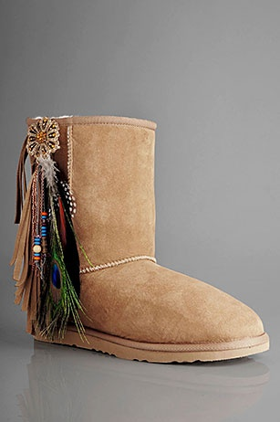 Uggs with accessories.