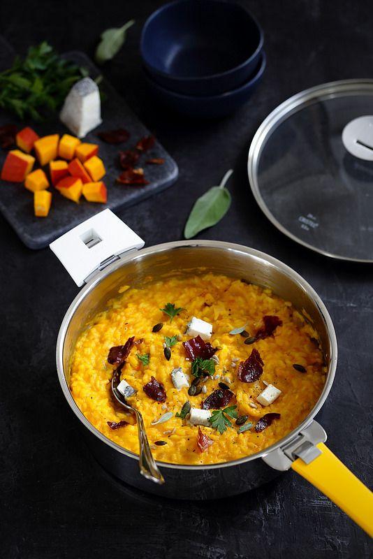 Recette du risotto au potimarron et chèvre avec la touche croustillante des chi…
