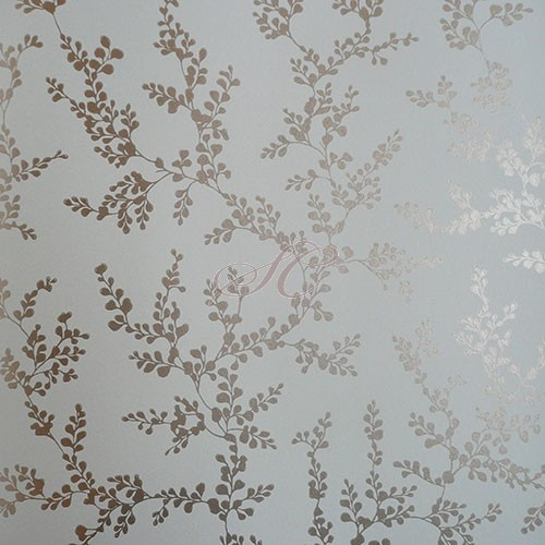 GP and J Baker Crayford Wallpaper Shadow Fern BW45037-2 Aqua Gliver