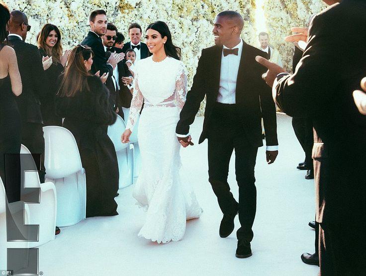 Kim Kardashian and and Kanye West's lavish Italian wedding pictures are revealed | Mail Online