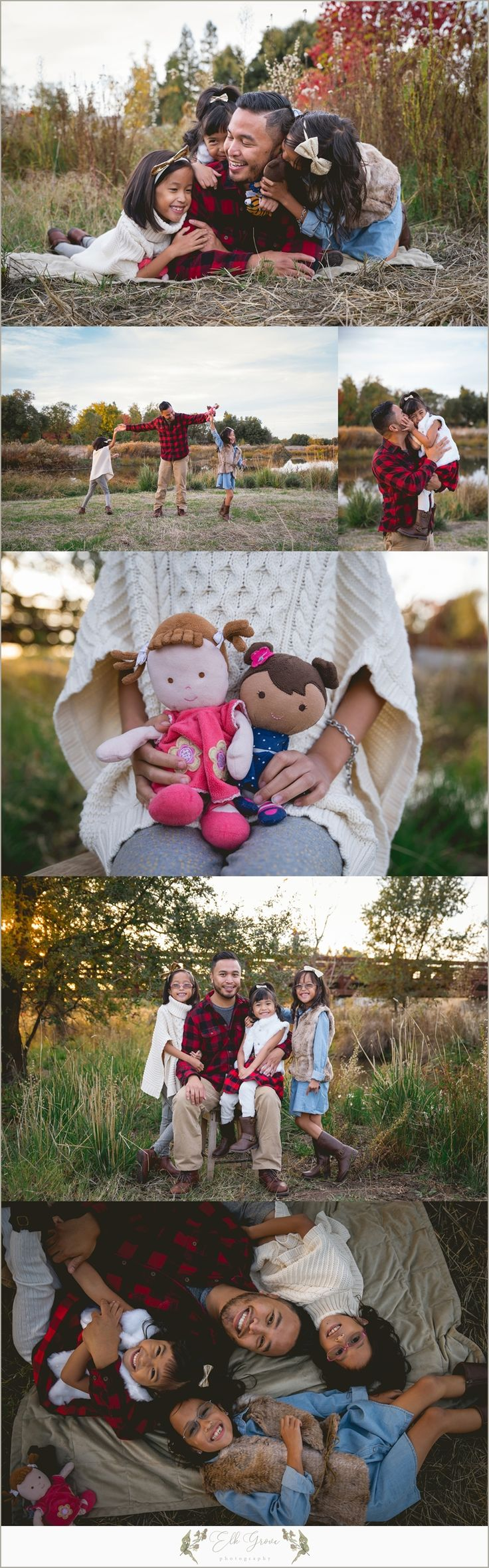 Sweet Father and Daughter Photography Poses. Family Photography by Elk Grove Photography - Natural Light - Posing Ideas for Families, Siblings, Parents, Couples, and Large Groups. Unposed Candid Ideas. Family Photography Outfit Ideas and Color Palettes. Sacramento, CA.