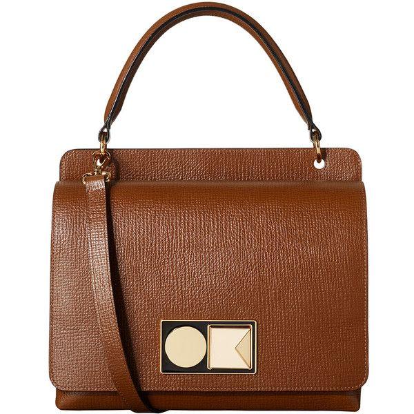 Textured Leather Double Robin Bag ($590) ❤ liked on Polyvore featuring bags, handbags, man bag, zipper handbags, orla kiely bags, zipper bag and purse bag