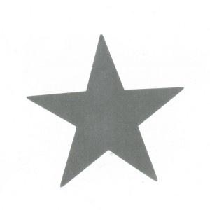 Motif Grande étoile imitation daim (7 coloris)