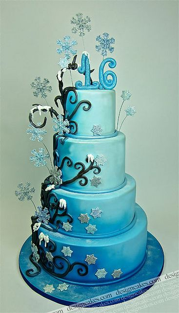 winter wonderland decorations for sweet 16 | Winter wonderland sweet sixteen cake | Flickr - Photo Sharing!