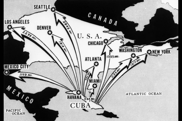 Cuban Missile Crisis Map