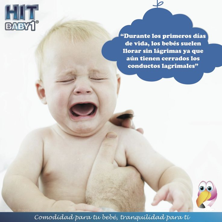 """Creciendo con Hit Baby1: """"Durante los primeros días de vida, los bebés suelen llorar sin lágrimas ya que aún tienen cerrados los conductos lagrimales""""  #bebés #crecimiento #desarrollo #curiosidades #llantos #lágrimas"""