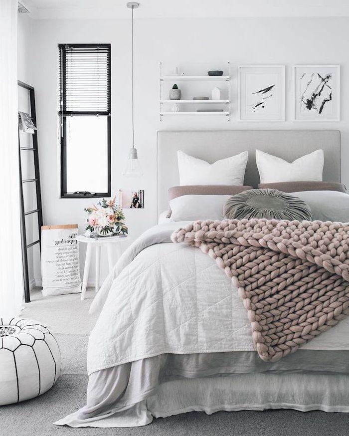 Adulte Chambre à Coucher Moderne à Choisir Pour Votre Appartement Stylé  Tableau Murale Blanc Et Noir Déco Chambre à Coucher Cocooning Scandinave  Déco