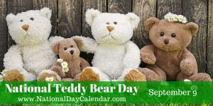 National Teddy Bear Day - September 9