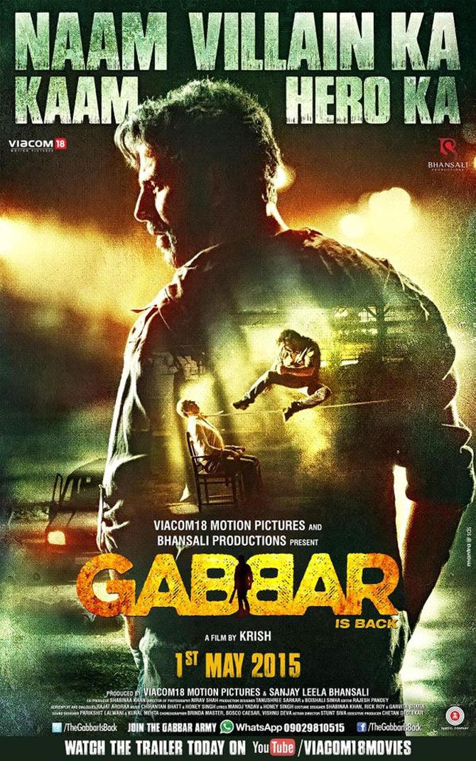 Finally, the poster of the next Akshay Kumar starrer action flick, Gabbar is…