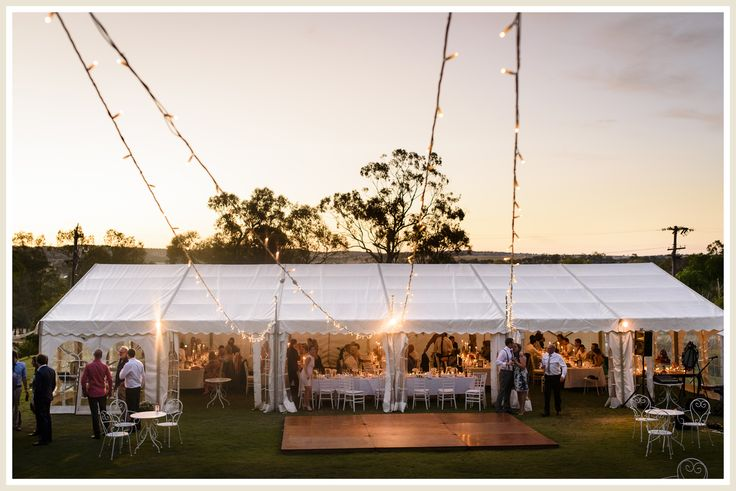 Wedding marquee at Laurelville Manor, York, Western Australia