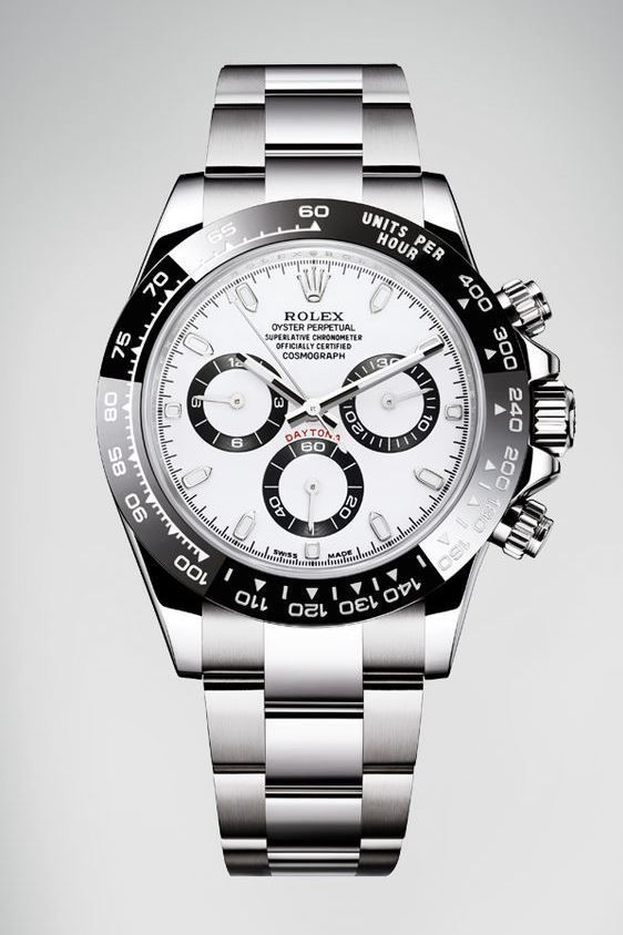 Rolex Oyster Perpetual Cosmograph Daytona in 904L steel. White face with  black bezel. 9ff8c0c108