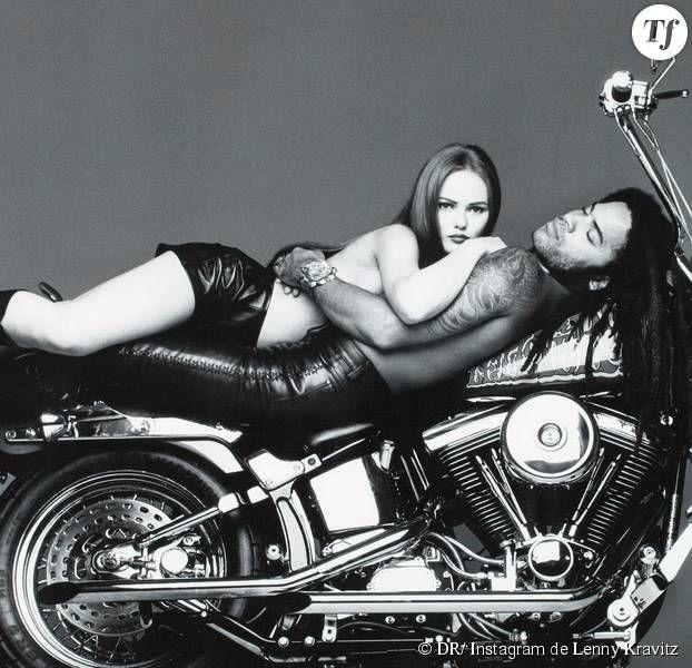 La photo postée par Lenny Kravitz sur Instagram avec Vanessa Paradis pour Vogue en 1992