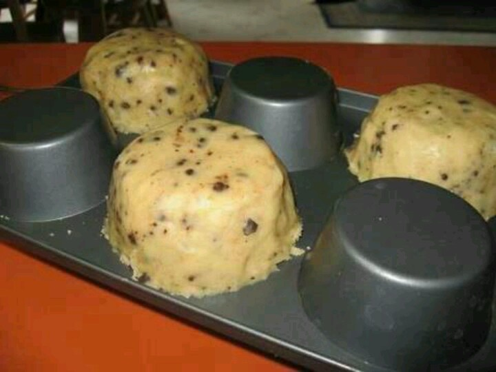 Cookie bowls...put dough on OUTSIDE of pan and upsidedown of course, then you can fill them wit ice cream, etc.