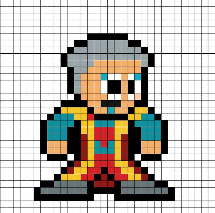 The Grandmaster Thor Ragnarok Perler Bead Pattern