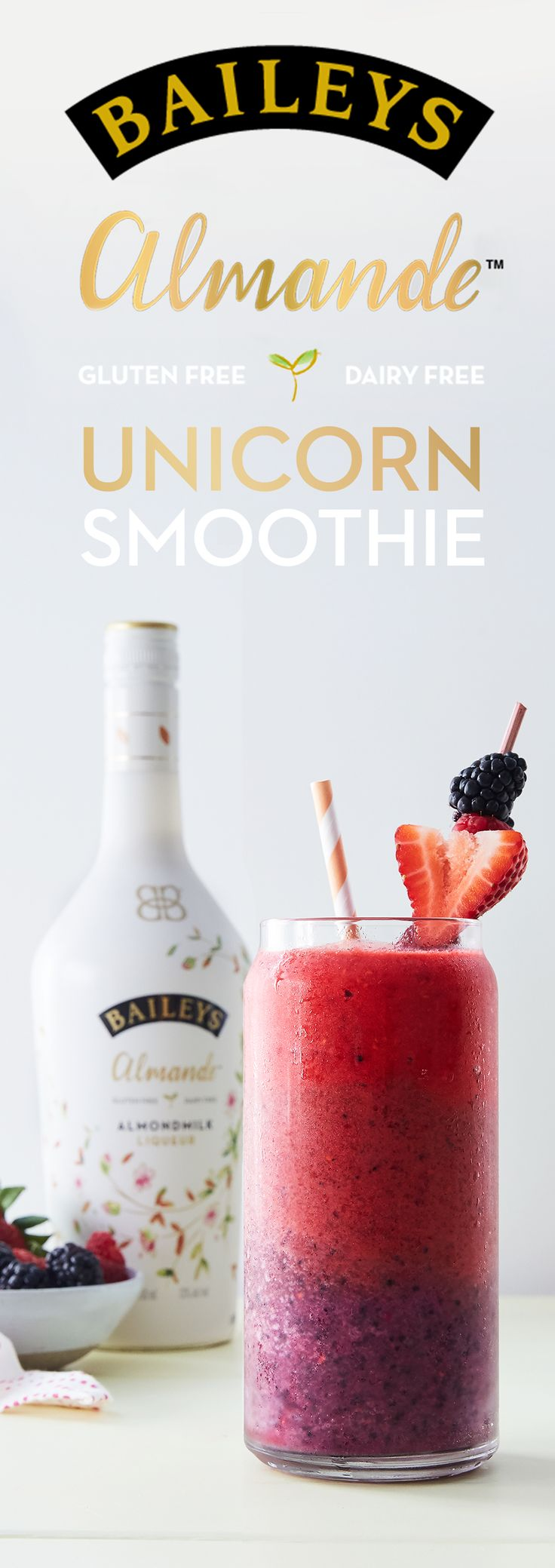 Summer is coming. Have some fun with fruit and whip up this light-tasting Unicorn Smoothie by Purewow, the perfect cocktail for hosting any party! This recipe is dairy free, gluten free and vegan!