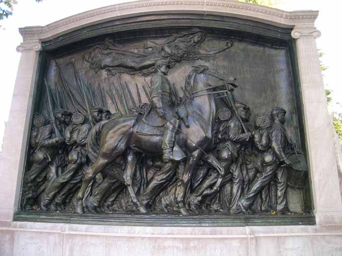 Robert Gould Shaw and the 54thh regiment Memorial in Boston