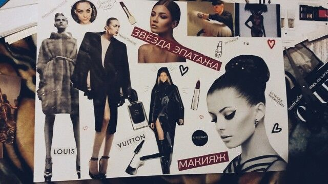 Fashion collage for  competition in Akademy Industry of beauty