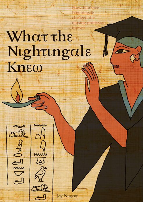 'What the Nightingale Knew' Book cover design for Joy Nugent, Nurselink Foundation