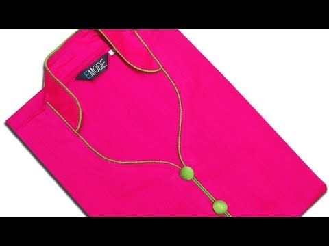 Half collar neck cutting and stitching, half collar neck design with piping - YouTube